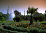 Gardens adjoining St. Sofia in Istanbul Turkey