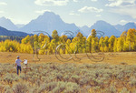 Artist painting in Grand Teton National Park, Wyoming
