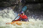 Kayak in the rapids, Gauley River National Recreation Area, Summersville, West Virginia