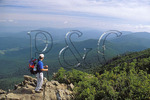 Hiker on Stony Man Mountain, Appalachian Trail, Shenandoah National Park, Virginia