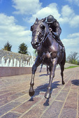 Statue in Thoroughbred Park, Lexington, Kentucky