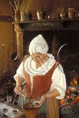 Cooking desserts, Jamestown, Virginia