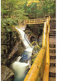 Trail at Sabbaday Falls, Kancamagus Highway, Waterville Valley, New Hampshire
