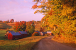 Jenny Farm At Sunrise, South Woodstock, Vermont
