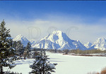 Mt. Moran From the Snake River Ox Bow, Grand Teton National Park, Wyoming