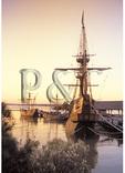 Historic Ships at Dawn, Jamestown Settlement, Virginia