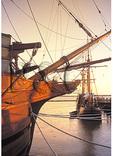 Historic Ships at Sunset, Jamestown Settlement, Virginia