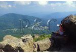 Hiker On Sharp Top, Peaks of Otter, Blue Ridge Parkway, Virginia