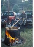 Stirring Cooking Apples, Making Apple Butter, Staunton, Virginia