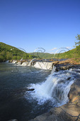 Fishing at Sandstone Falls, New River Gorge National River, West Virginia