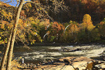Fisherman on the New River Gorge National River, West Virginia