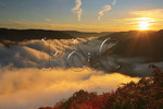 Sunrise, Grand View Park, New River Gorge National River, West Virginia