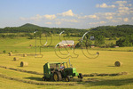 Baling Hay, Swoope, Shenandoah Valley, Virginia