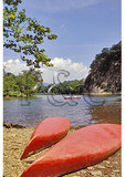 Canoes Beside the Shenandoah River, Compton, Virginia