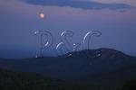 Moonrise Over Old Rag Mountain, Shenandoah National Park, Virginia