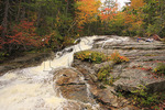 Hikers and Waterfall on Cascade Brook, Beside Cascades-Basin Trail, Appalachain Trail, Lincoln, New Hampshire