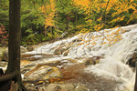 Waterfall on Cascade Brook, Beside Cascades-Basin Trail, Appalachain Trail, Lincoln, New Hampshire