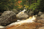 Waterfall on Cascade Brook, Beside Cascades-Basin Trail, Appalachain Trail, Lincoln, New Hampshire