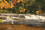 Fishing in Rocky Gorge, Kancamagus Highway, New Hampshire
