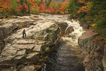 Visitor at Rocky Gorge, Kancamagus Highway, New Hampshire