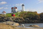 Cape Neddick Lighthouse, Nubble Light, York Beach, Maine