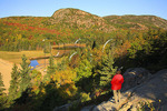 Looking at the Beahive, Great Head Trail, Acadia National Park, Maine