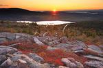 Sunset, Cadillac Mountain Trail, Cadillac Mountain, Acadia National Park, Maine