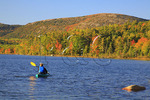 Kayaker on Bubble Pond, Acadia National Park, Maine