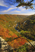 New River, Seen from Endless Wall Trail, New River Gorge National River, West Virginia