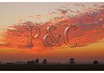 Sunset over farm, Bombay Hook National Wildlife Refuge, Dover, Delaware