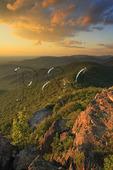 Skyline Drive and Shenandoah Valley Seen From the Appalachian Trail, Little Stony Man Mountain, Shenandoah National Park, Virginia