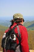 Hiker at Hawksbill Near the Appalachian Trail, Shenandoah National Park, Virginia