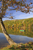 Fisherman on Lake at Douthat State Park, Clifton Forge, Virginia