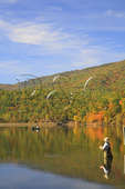 Fisherman in Lake at Douthat State Park, Clifton Forge, Virginia