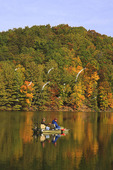 Fishermen on Lake at Douthat State Park, Clifton Forge, Virginia