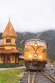 Conway Scenic Railroad at Crawford Notch Depot, North Conway, New Hampshire