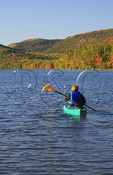 Kayaker on Bubble Pond, Acadia National Park, Maine