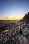 Sunset, Bass Harbor Lighthouse, Acadia National Park, Maine