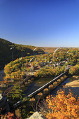Train Crossing Bridge, Seen from Maryland Rocks, Harpers Ferry, West Virginia