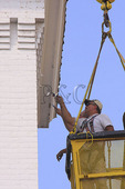 Painting Steeple, Downtown Staunton, Virginia