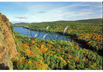 View from cliff overlooking Lake of the Clouds, Porcupine Wilderness State Park, Michigan