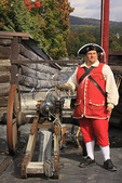 British Soldier with Canon Shot, Fort William Henry, Lake George, New York