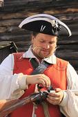 British Soldier Priming Musket, Fort William Henry, Lake George, New York