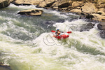 Kayaker maneuvers through O & W Rapids, Cumberland River, Big South Fork National River and Recreation Area, Oneida, Tennessee