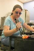 Glassblower Michelle Weston, The Glass Studio, Berea, Kentucky
