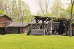 Blacksmith in fort compound, Fort Boonesborough State Park, Richmond, Kentucky