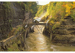 Trail crossing at Lower Falls, Letchworth State Park, New York