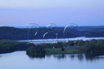 Pre-dawn, Trooper Island in Dale Hollow Lake State Resort Park, Burkesville, Kentucky