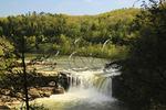 View of Cumberland Falls from Eagle Falls Trail, Cumberland Falls State Resort Park, Corbin, Kentucky