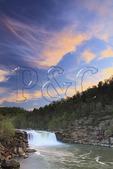 Sunset at Cumberland Falls, Cumberland Falls State Resort Park, Corbin, Kentucky